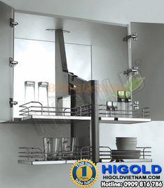 Kệ úp chén Inox âm tủ bếp trên Higold – 401007