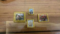 Minyatür tablolar. İç mekanı süslemek için hazır.