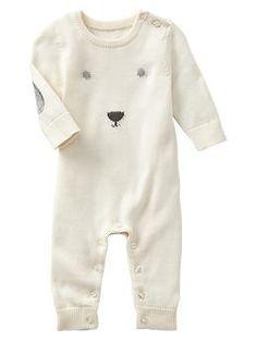 Intarsia polar bear sweater one-piece $34.95