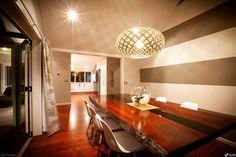 Luminária Pendente Kina @maislume Dining Decor, Contemporary Lighting, Decor, Hanging Lights, Large Pendant Light Fixtures, Large Pendant Lighting, Pendant Lighting, Pendant Light Fixtures, Furniture Design