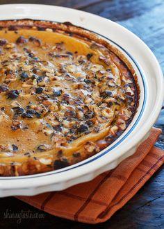Pumpkin Hazelnut Flaugnarde (Clafoutis) #dessert #custard #thanksgiving