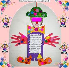 Pantin Clown réalisé par Maïa 22 mois  gabarit sur mon blog http://nounoudunord.centerblog.net/4283-patin-clown-realise-par-maia-22-mois