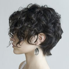 curly pixie cut #cur
