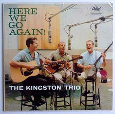 The Kingston Trio - Here We Go Again! LP Vinyl Record Album, Capitol Records -T-1258, Folk, Ballad, Country, 1959, Original Pressing