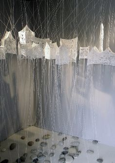 Crochet installations and sculptures by Cecile Dachary