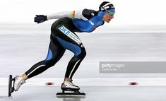 German skater Anni Friesinger races to victory in the women's 5000m race of the Single Distances Speed Skating World Championships 06 March 2005 in Inzell. Compatriot Claudia Pechstein is second, Canadian Clara Hughes placed third.