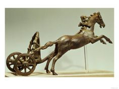 Model of a Two Horse Chariot, Found in the Tiber River, Roman, 1-3rd Century AD