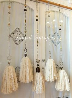 Wood Bead Garland, Tassel Garland, Tassels, Moroccan Wedding Blanket, Crochet Mandala, Mocca, Boho Diy, Ribbon Work, Diy And Crafts