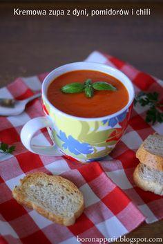 Blog Bo(ro)n Appétit: Prosto i szybko! Kremowa zupa z dyni, pomidorów i chili