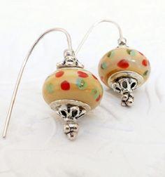 Earrings  Lampwork Glass Bead Earrings Dangle by uBuNEEKBoutique