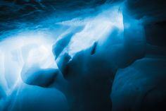 """Ice Cave on top of """"La Meije"""" in the french Alpes (La Grave)"""