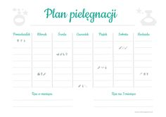 plan-pielęgnacji-mięta Organization Bullet Journal, Fitness Planner, Good Habits, Better Life, Bujo, Back To School, Lettering, Writing, How To Plan