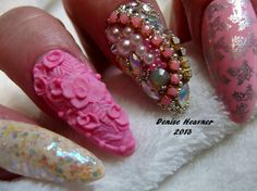 I'm Dreaming of a PINK CHRISTMAS nail  .