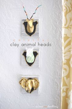 Colorful Clay Animal Heads, Delineate Your Dwelling