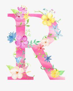 Flowers letter r PNG and Clipart Monogram Wallpaper, Alphabet Wallpaper, R Wallpaper, Wallpaper Iphone Cute, Cute Wallpapers, R Letter Design, Alphabet Letters Design, Letter Art, Monogram Alphabet