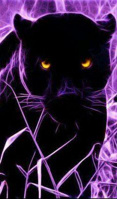 Animated Wallpapers For Mobile, Cool Backgrounds Wallpapers, Tiger Artwork, Black Artwork, Big Cats Art, Cat Art, Tatouage Seven Deadly Sins, Black Panther Art, Spiritual Animal