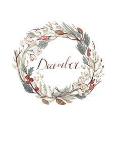 December wreath by Kelsey Garrity Riley (via Etsy).