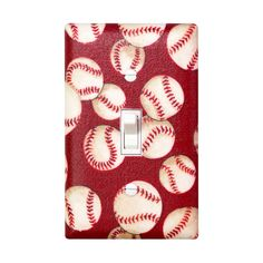 Baseball Nursery Decor / Light Switch Plate Cover / by SSKDesigns, $16.00