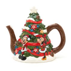Bring a touch of Disney magic to Christmas morning with our snow-dusted Christmas tree teapot! Featuring Mickey and Minnie in their merriest attire, this festive pot is sure to become a Christmas tea-time tradition.