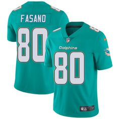 Youth Nike Miami Dolphins #80 Anthony Fasano Limited Aqua Green Team Color NFL Jersey
