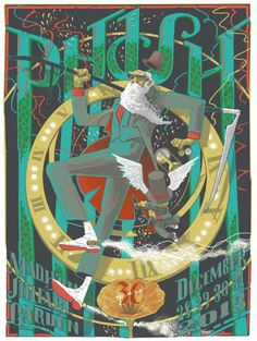 Phish Madison Square Garden in NYC by Rich Kelly Phish Posters, Tour Posters, Band Posters, Concert Posters, Music Posters, Alphonse Mucha, New York Poster, Madison Square Garden, Poster Ads