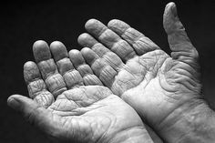 Old hands black-and-white: hands (by Nevercalm)