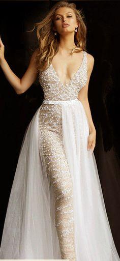 25 ΝΥΦΙΚΑ ΦΟΡΕΜΑΤΑ¨Fancy Jumpsuits. Formal Dresses, Fashion, Dresses For Formal, Moda, Fasion, Gowns, Formal Wear, Formal Gowns, Formal Dress