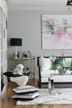 An Illinois home full of color: living room designed by Kristin Cadwallader via Bliss at Home