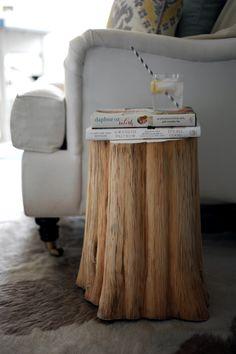 DIY: Natural Tree Stump Side Table