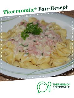 Schinken- Sahne Soße von Ein Thermomix ® Rezept aus der Kategorie sons… Ham and cream sauce from A Thermomix ® recipe from the category other main dishes on www.de, the Thermomix ® Community. Shrimp Recipes For Dinner, Shrimp Recipes Easy, Healthy Pasta Recipes, Baby Food Recipes, Salsa Alfredo Receta, Pasta Recipes Video, Recipe Fr, Homemade Baby Foods, Alfredo Sauce