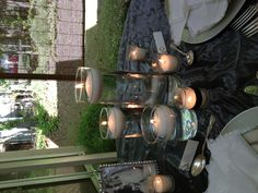 Three floating candle centerpiece