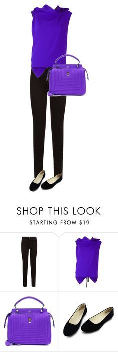 """Unbenannt #608"" by stylecoach05 on Polyvore featuring Mode, 7 For All Mankind, Roland Mouret und Fendi"