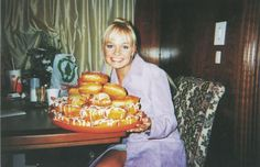 Emma Bunton (Baby Spice) with a lot of donuts.You're welcome. - beauty inspiration for GLOWLIKEAMOFO.com