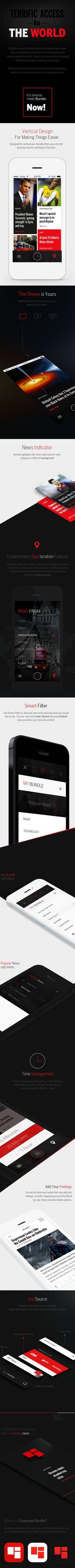 Bundle Iphone App by Enes Danış, via Behance