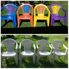 Paint Plastic Lawn Chairs.