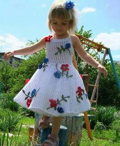 8963e26e70 pretty colored motifs Baby Patterns, Crochet Patterns, Crochet Ideas, Baby  Girl Crochet,