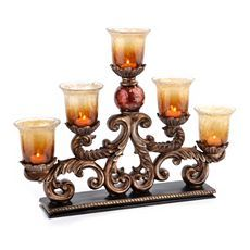Kirkland's: Red Ball Runner With Votives Lantern Candle Holders, Candle Lanterns, Candle Sconces, Votive Candles, Wall Sconces, Chandeliers, Dining Room Table Centerpieces, Kirkland Home Decor, World Decor