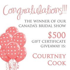 cool vancouver wedding CONGRATULATIONS to Courtney Cook - The winner of our January Canada's Bridal Show $500 gift certificate Giveaway!!! We will contact you via email to arrange a consultation. Thank you to everyone who entered our contest. The response was overwhelming - and so appreciated! For all who requested a follow up, we will be getting back to you shortly.  Info@thepolkadotpapershop.com   http://ift.tt/11sOUbS...