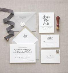 Letterpress wedding invitations // Malibu design // CHATHAM & CARON letterpress studio