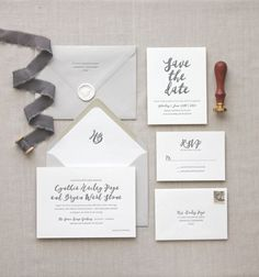 Letterpress wedding invitations // Malibu design // CHATHAM & CARON letterpress studio