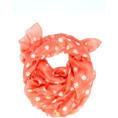 Peachy spotty scarf....LOVE!    Tsumori Chisato Dot Scarf - Peach - Ad133 $245
