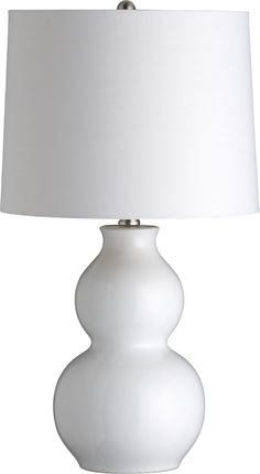 Zing White Table Lamp in Lighting | Crate and Barrel $60