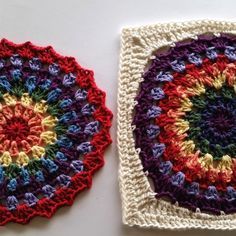 Photo tutorial showing how to square off this mandala pattern.