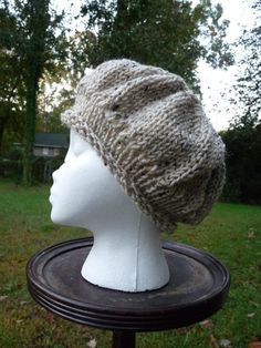 Wheat Colored Ladies Knit Hat by lovemyknits on Etsy, $15.00