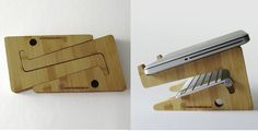 Puzzle Bamboo Laptop Stand, laser cutting idea?
