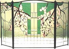 Confetti design.  #stainedglass #fireplace #screen #nature #colorful #beautiful #artsy #stylish #custom #homedecor #decor #elegant