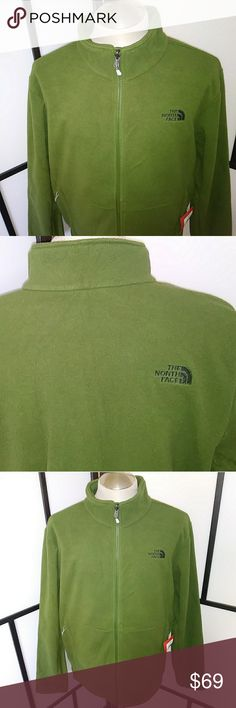Mens The NorthFace Jacket XL Green New Northface Mens Fleece Jacket North Face Jackets & Coats Performance Jackets