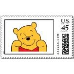 Winnie the Pooh smiling stamp