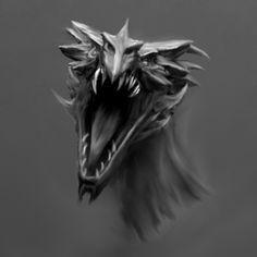 Alduin by MajdAddin--Alhasi.deviantart.com on @deviantART #skyrim #geek #gamer #fantasy #dragon  (This is beautiful! :'D)