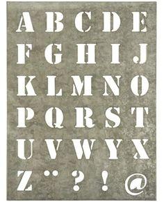 Sjabloon alfabet http://www.postpapierenzo.nl/product/49985